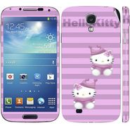 Snooky 39547 Digital Print Mobile Skin Sticker For Samsung Galaxy S4 I9500 - Purple