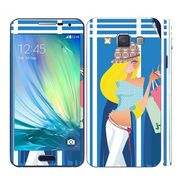 Snooky 39575 Digital Print Mobile Skin Sticker For Samsung Galaxy A5 - Blue