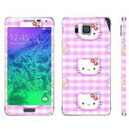 Snooky 39584 Digital Print Mobile Skin Sticker For Samsung Galaxy Alpha - Pink