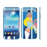 Snooky 39599 Digital Print Mobile Skin Sticker For Samsung Galaxy Mega 5.8 Gt 18281 - Blue