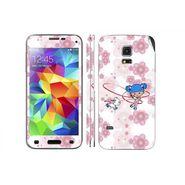 Snooky 39628 Digital Print Mobile Skin Sticker For Samsung Galaxy S5 - White