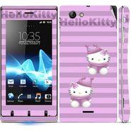 Snooky 39655 Digital Print Mobile Skin Sticker For Sony Xperia J - Purple