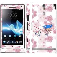 Snooky 39700 Digital Print Mobile Skin Sticker For Sony Xperia S - White