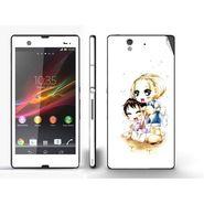 Snooky 39733 Digital Print Mobile Skin Sticker For Sony Xperia Z - White