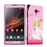 Snooky 39780 Digital Print Mobile Skin Sticker For Sony Xperia ZL - Pink
