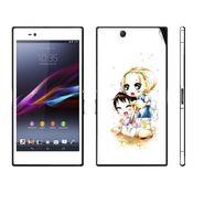 Snooky 39793 Digital Print Mobile Skin Sticker For Sony Xperia Z Ultra - White