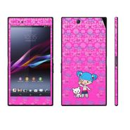 Snooky 39795 Digital Print Mobile Skin Sticker For Sony Xperia Z Ultra - Pink