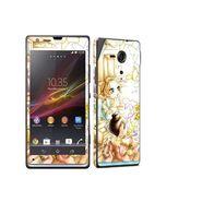 Snooky 39821 Digital Print Mobile Skin Sticker For Sony Xperia Sp M35h C5302 - White