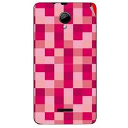 Snooky 40297 Digital Print Mobile Skin Sticker For Micromax Canvas Fun A76 - Purple