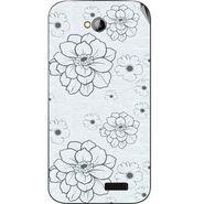 Snooky 40314 Digital Print Mobile Skin Sticker For Micromax Bolt A089 - White