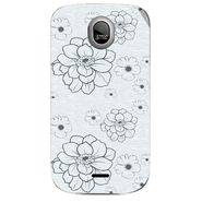 Snooky 40328 Digital Print Mobile Skin Sticker For Micromax Ninja A89 - White