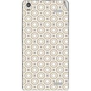 Snooky 40907 Digital Print Mobile Skin Sticker For XOLO A1000S - Brown