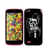 Snooky 41241 Digital Print Mobile Skin Sticker For Gionee Elife E3 - Black