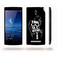 Snooky 41297 Digital Print Mobile Skin Sticker For OPPO Find 7 X9076 - Black