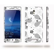 Snooky 41310 Digital Print Mobile Skin Sticker For OPPO Find 7 X9076 - White