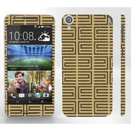 Snooky 41400 Digital Print Mobile Skin Sticker For HTC Desire 820 - Brown