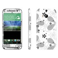 Snooky 41422 Digital Print Mobile Skin Sticker For HTC One M8 - White