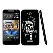 Snooky 41437 Digital Print Mobile Skin Sticker For HTC Desire 616 - Black