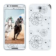 Snooky 41463 Digital Print Mobile Skin Sticker For HTC Desire 820 mini - Grey