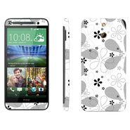 Snooky 41478 Digital Print Mobile Skin Sticker For HTC One E8 - White