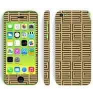 Snooky 41526 Digital Print Mobile Skin Sticker For Apple Iphone 5C - Brown