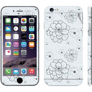 Snooky 41561 Digital Print Mobile Skin Sticker For Apple Iphone 6 Plus - Grey
