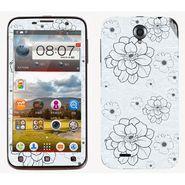 Snooky 41575 Digital Print Mobile Skin Sticker For Lenovo A850 - Grey