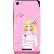 Snooky 41730 Digital Print Mobile Skin Sticker For Lava Iris X8 - Pink