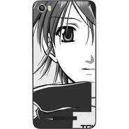 Snooky 41737 Digital Print Mobile Skin Sticker For Lava Iris X8 - Grey