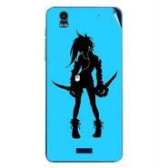 Snooky 41784 Digital Print Mobile Skin Sticker For Lava Iris Pro 20 - Blue