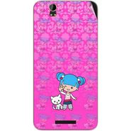 Snooky 41834 Digital Print Mobile Skin Sticker For Lava Iris X1 Grand - Pink