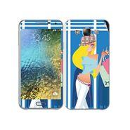 Snooky 41871 Digital Print Mobile Skin Sticker For Samsung Galaxy E7 - Blue