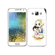 Snooky 41881 Digital Print Mobile Skin Sticker For Samsung Galaxy E7 - White