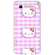 Snooky 41898 Digital Print Mobile Skin Sticker For Intex Aqua 3G - Pink