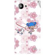 Snooky 41968 Digital Print Mobile Skin Sticker For Intex Aqua HD - White