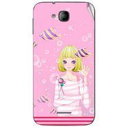 Snooky 41982 Digital Print Mobile Skin Sticker For Intex Aqua i4 - Pink