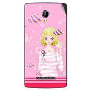 Snooky 42081 Digital Print Mobile Skin Sticker For Intex Aqua N8 - Pink