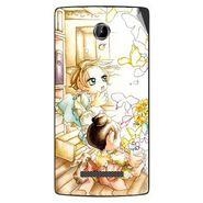 Snooky 42082 Digital Print Mobile Skin Sticker For Intex Aqua N8 - White