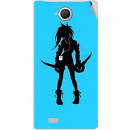 Snooky 42097 Digital Print Mobile Skin Sticker For Intex Aqua N17 - Blue