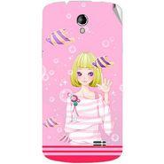 Snooky 42213 Digital Print Mobile Skin Sticker For Intex Aqua SUPERB - Pink