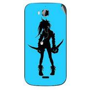 Snooky 42251 Digital Print Mobile Skin Sticker For Intex Aqua Wonder - Blue