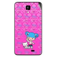 Snooky 42275 Digital Print Mobile Skin Sticker For Intex Aqua Y2 IPS - Pink