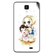 Snooky 42277 Digital Print Mobile Skin Sticker For Intex Aqua Y2 IPS - White