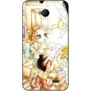 Snooky 42280 Digital Print Mobile Skin Sticker For Intex Aqua Y2 Remote - White