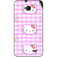Snooky 42283 Digital Print Mobile Skin Sticker For Intex Aqua Y2 Remote - Pink