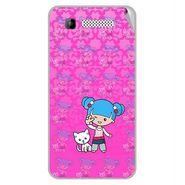 Snooky 42297 Digital Print Mobile Skin Sticker For Intex Cloud Y11 - Pink