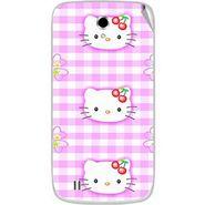 Snooky 42360 Digital Print Mobile Skin Sticker For Intex Cloud Y4 Plus - Pink