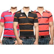 Pack of 3 Stripes Cotton Tshirts_combo22