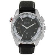 Exotica Fashions Analog Round Dial Watches_E11ls25 - Black