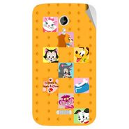 Snooky 46144 Digital Print Mobile Skin Sticker For Micromax Canvas Lite A92 - Yellow
